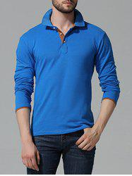 Button Up manches longues Polo -