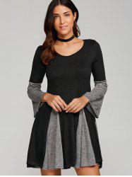 Mini Spliced Fit and Flare Dress
