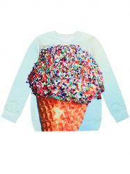 3D Ice Cream Pullover Sweatshirt -