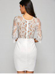 Mini Openwork Lace Dress -