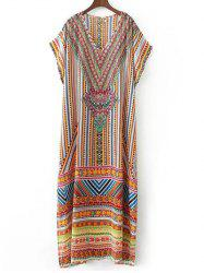 Rhinestoned Vintage Chiffon Dress -