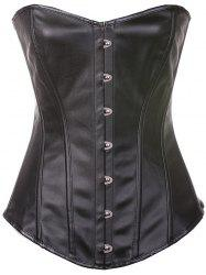 Buckle Faux Leather Lace-Up Corset