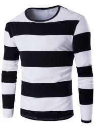 Long Sleeve Stripe T-Shirt - BLACK