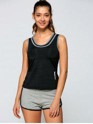 Sports Tank Top + Short Pants - BLACK