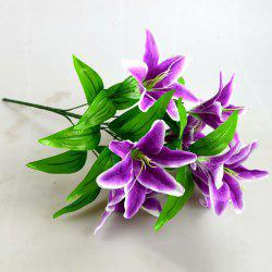 Silk Flower Real Touch Artificial Lily Branch Decoration -