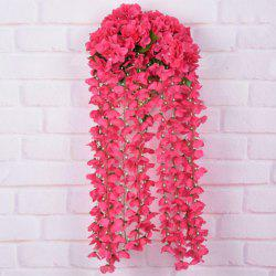 Wall Decoration Artificial Hydrangea Bracketplant Rattan - RED