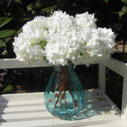 Wedding Party Home Decoration Artificial Hydrangea Flower - WHITE