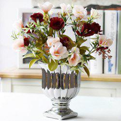 Real Touch Camellia Artificial Flower Living Room Decoration -