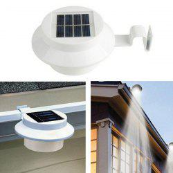 Outdoor Garden Decorative Waterproof LED Solar Courtyard Fence Lamp - WHITE
