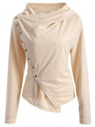 Asymmetric Single-Breasted Jacket -