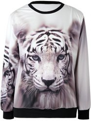 3D Print Tiger Head Sweatshirt