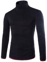 Faux Twinset Design High Neck Long Sleeve Knitwear