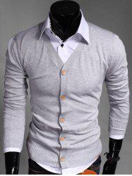 Slimming V Neck Button Up Cardigan