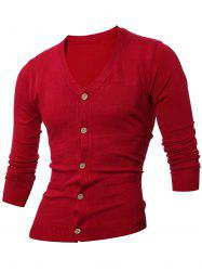 Slimming V Neck Long Sleeves Cardigan