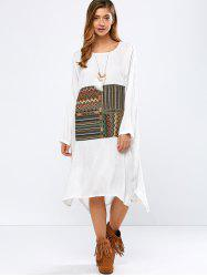High-Low Embroidered Vintage Dress -