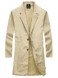 Turn-Down Collar Single-Breasted Lengthen Wind Coat -