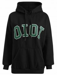 Hooded Oioi Sweatshirt - BLACK ONE SIZE