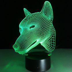 3D visuel Changement de couleur Forme Dog Toucher Night Light - Coloru00e9