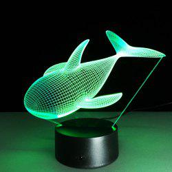 Colorful 3D Shape Dolphin visuel LED Night Light - Coloru00e9