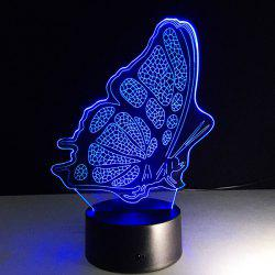 Color Changing 3D Illusion Butterfly LED Kids Room Night Light - COLORFUL