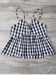 Cami Checked Ruffles Tank Top -