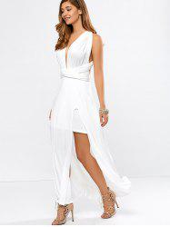 High Slit Convertible Maxi Prom Cocktail Dress