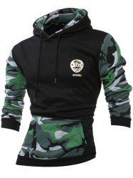 Camouflage Splicing Long Sleeves Hoodie