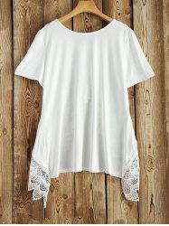 Lace Trim Short Sleeve Tee -