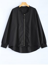 Zipped High Low Jacket -