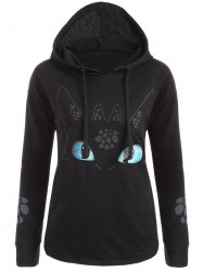 Cartoon Character Unicorn Graphic Hoodie - BLACK M