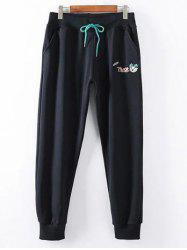 Plus Size Casual Drawstring Pants -