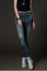 Button Fly Gradient Pencil Jeans -