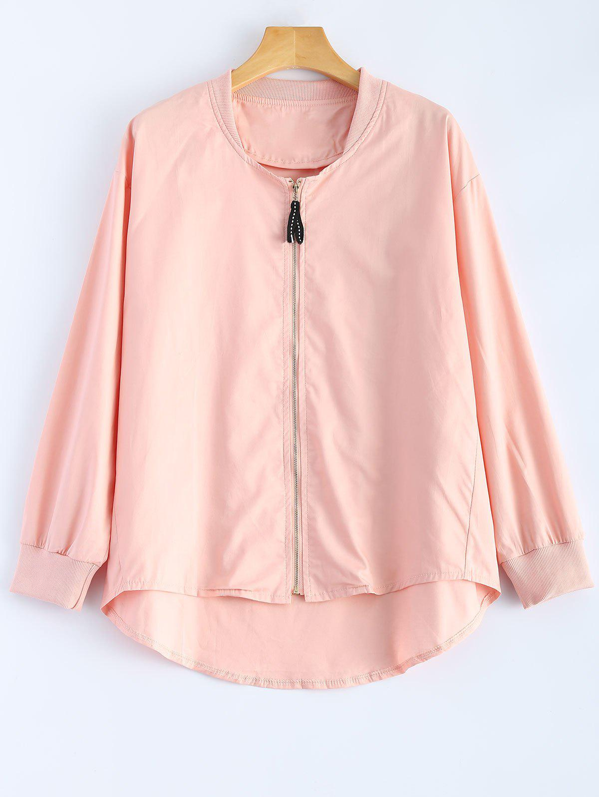 Store Zipped High Low Jacket