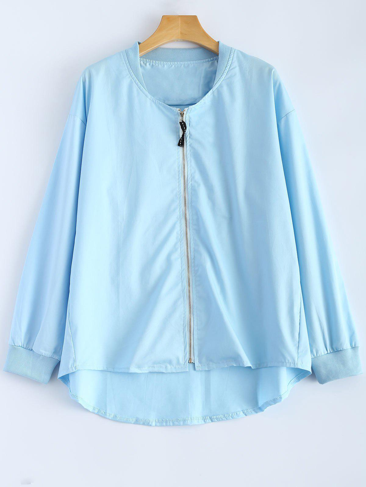 Outfits Zipped High Low Jacket