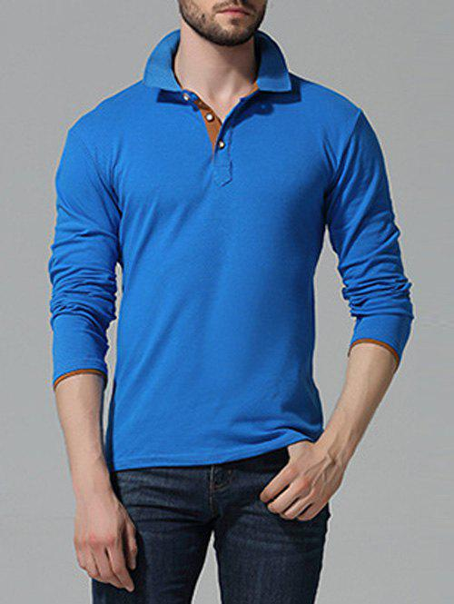 Button Up manches longues Polo