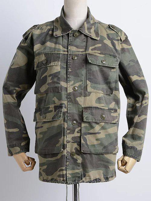 Unique Camouflage Loose Field Jacket