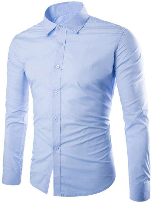 Cheap Single Breasted Shirt Collar Long Sleeve Shirt