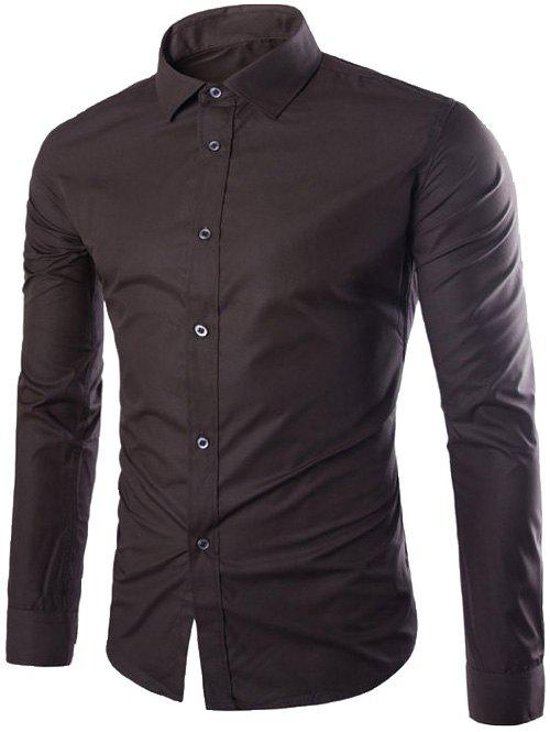 Latest Single Breasted Shirt Collar Long Sleeve Shirt