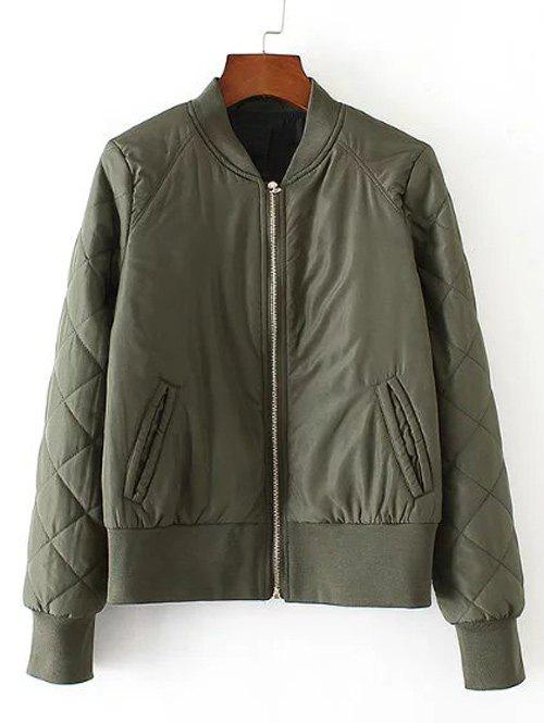 Outfits Zip-Up Fitting Quilted Winter Bomber Jacket