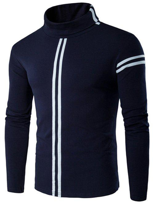 New Roll Neck Varsity Stripe Long Sleeve T-Shirt