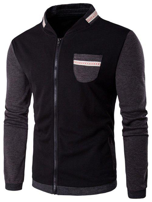 Jacket au col remonte en patch de couleurs Noir 5XL