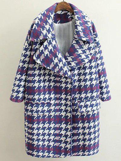 Affordable Woolen Houndstooth Coat