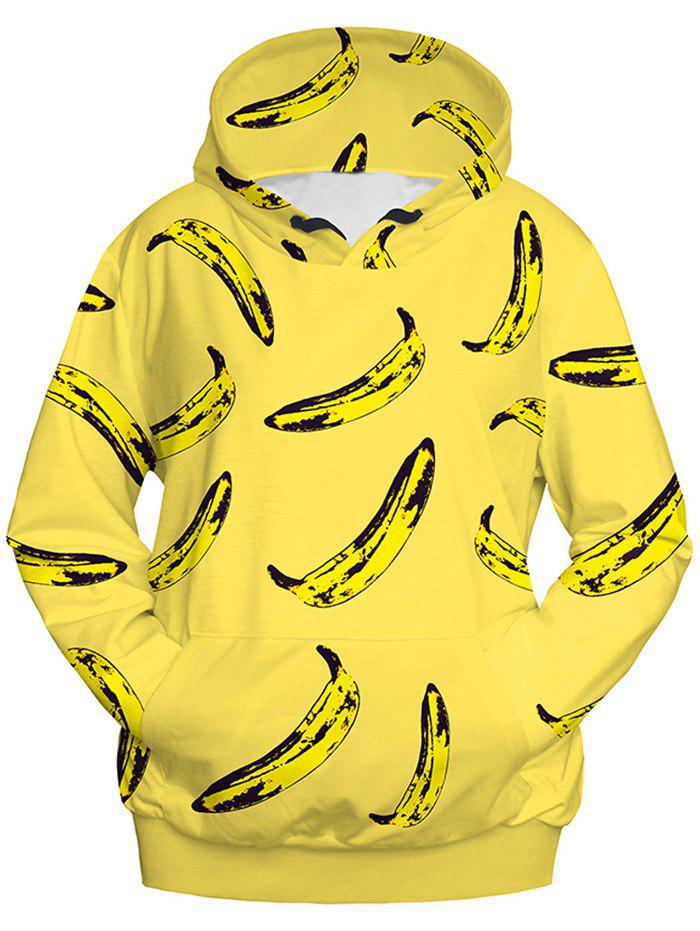 Banana Imprimer Sweat à capuche