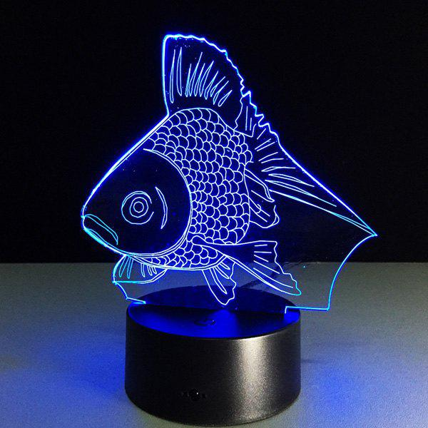 Colorful 3D Visual Fish Shape LED Table Night LightHOME<br><br>Color: COLORFUL; Style: Modern/Contemporary; Categories: Light; Material: Acrylic,Plastic; Voltage(V): 5V; Power (W): 3W; Weight: 0.396kg; Package Contents: 1 x Night Light (Set);