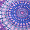 Bohemia Feather Mandala Vortex Print Round Beach Throw - PURPLE ONE SIZE