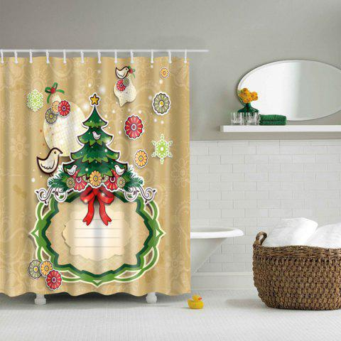 Thicken Merry Christmas Design Waterproof Polyester Shower Curtain