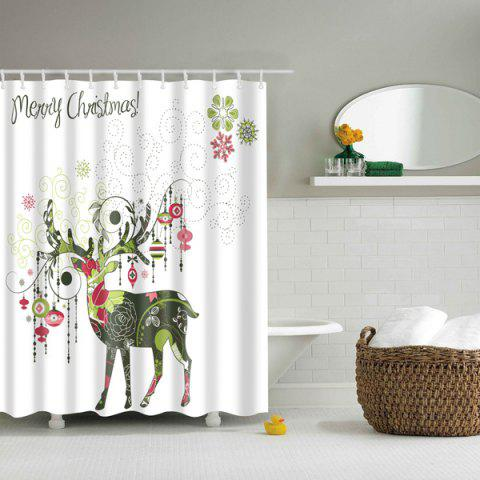 Fashion Creative Christmas Deer Design Polyester Shower Curtain COLORMIX L