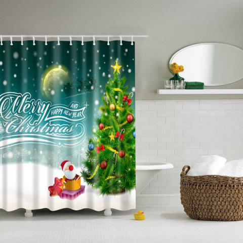 Discount Merry Christmas Design Waterproof Polyester Bathroom Shower Curtain COLORMIX L