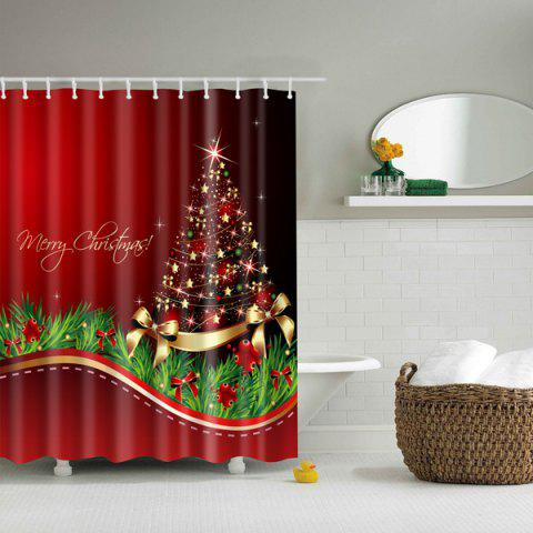Online Thicken Waterproof Polyester Merry Christmas Shower Curtain COLORMIX L