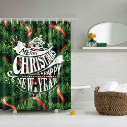Christmas Tree Design Polyester Shower Curtain Bathroom Decoration